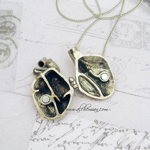 Alchemian Shop Anatomical Heart Locket Necklace Style Steward